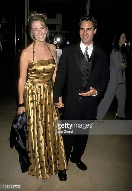 Janet Holden and Eric McCormack during Angle House Cleaning 2000 Democratic Fundraiser Gala at Beverly Hilton Hotel in Beverly Hills California...