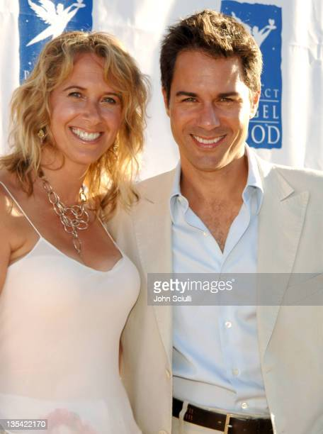 Janet Holden and Eric McCormack during Project Angel Food Awards Dinner Arrivals at Project Angel Food in Hollywood California United States