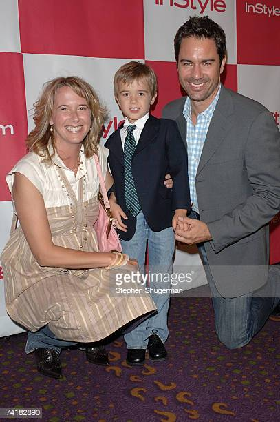 Janet Holden McCormack son Finnigan and actor Eric McCormack attend the In Style party celebrating the publication of Joyce Ostin's book A Tribute to...