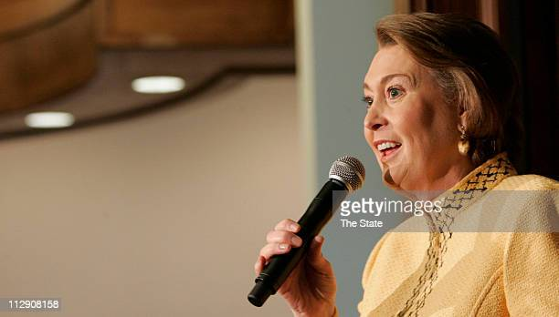 Janet Huckabee wife of Republican presidential candidate Mike Huckabee campaigns for her husband at the Aiken Municipal Airport on Friday January 18...