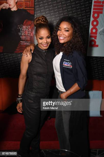 Janet Jackson and actress Gabrielle Union attend Janet Jackson Barclays After Party at Barclays Center on November 15 2017 in New York City