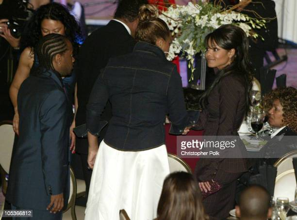 Janet Jackson and boyfriend Jermaine Dupri at the National Association of Basketball Wives Behind the Bench Foundation annual Touching A Life Gala to...