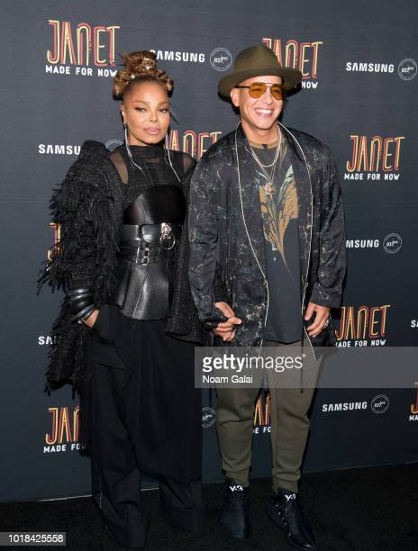 Janet Jackson and Daddy Yankee attend the Made For Now release party at Samsung 837 on August 17 2018 in New York City