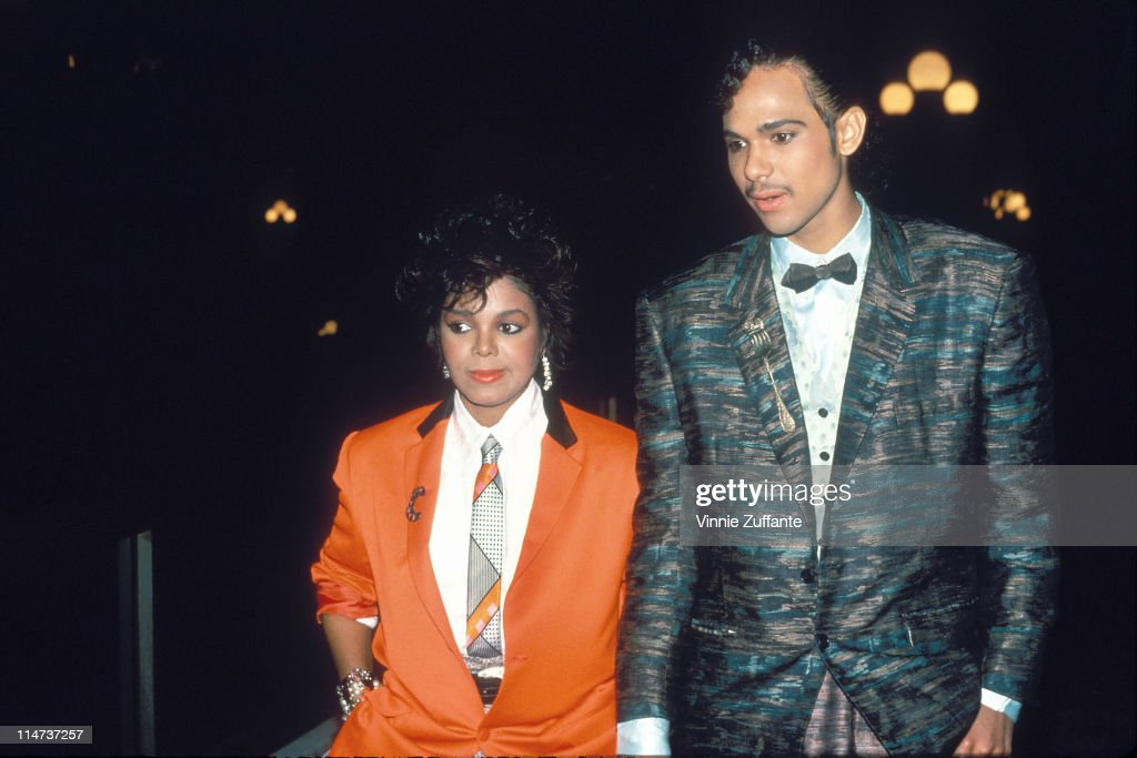 Janet Jackson and James DeBarge in July 1984 : News Photo