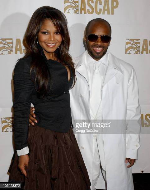 Janet Jackson and Jermaine Dupri during 22nd Annual ASCAP Pop Music Awards Arrivals at Beverly Hilton Hotel in Beverly Hills California United States