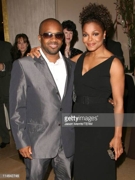 Janet Jackson and Jermaine Dupri during 9th Annual Lili Claire Foundation Benefit Hosted by Matthew Perry Arrivals at Beverly Hilton Hotel in Beverly...