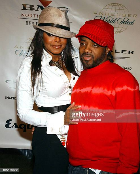 Janet Jackson and Jermaine Dupri during Clive Davis Hosts A Celebration of The American Music Awards Arrivals at Esquire House in Beverly Hills...
