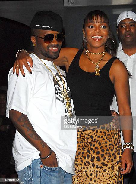 Janet Jackson and Jermaine Dupri during Janet Jackson Photocall at The Metropolitan Hotel July 24 2006 at Metropolitan Hotel in London Great Britain
