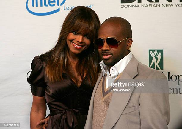 Janet Jackson and Jermaine Dupri during Songs of Hope IV at Esquire House 360° Red Carpet at Esquire House 360° in Beverly Hills California United...