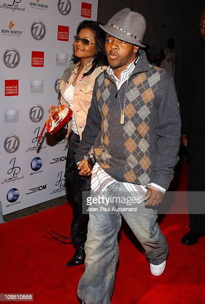 """Janet Jackson and Jermaine Dupri during Usher's 25th Birthday Bash """"Flashback 1978"""" - Arrivals at Pearl in West Hollywood, California, United States."""