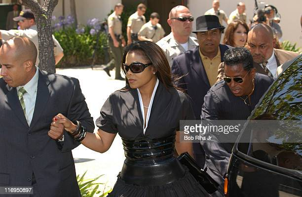 Janet Jackson and Jermaine Jackson leave Santa Barbara County Superior Court in Santa Maria Calif Monday June 13 after Michael Jackson was acquitted...