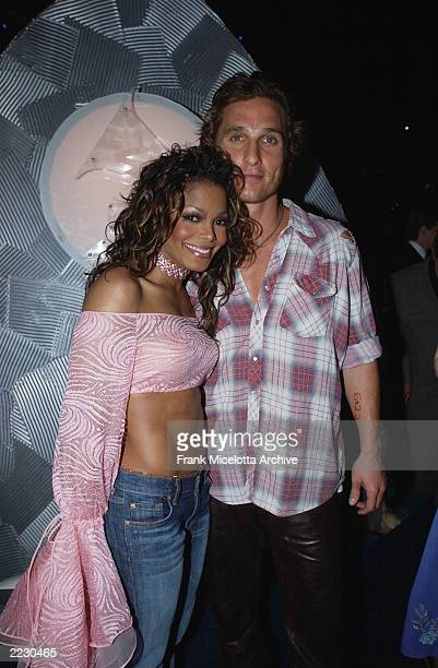 Janet Jackson and Matthew McConaughey at the 44th Annual Grammy Awards at the Staples Center in Los Angeles CA 2/27/2002 Photo by Frank...