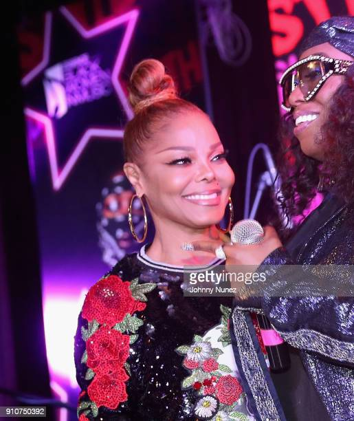 Janet Jackson and Missy Elliott attend the Essence 9th annual Black Women in Music at Highline Ballroom on January 25 2018 in New York City
