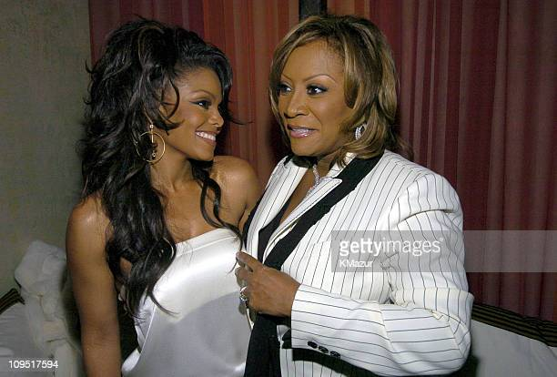 Janet Jackson and Patti LaBelle during Virgin Records Presents Damita Jo A Celebration with Janet Jackson in Honor of Her New Album Inside at Spice...