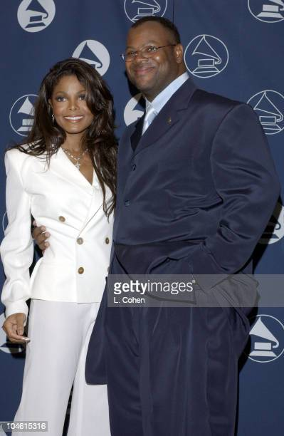 Janet Jackson and producer Jimmy Jam during The Recording Academy 2002 Governors Award at Beverly Hills Hotel in Beverly Hills California United...