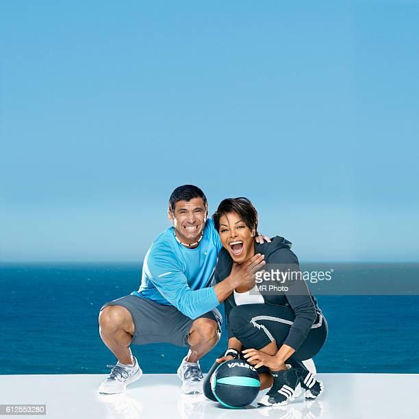 Janet Jackson and trainer Tony Martinez are photographed for Shape Magazine on April 27, 2011.