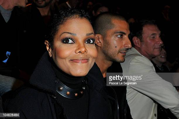Janet Jackson and Wissam Al Mana arrive for the Lanvin Ready to Wear Spring/Summer 2011 show during Paris Fashion Week at Halle Freyssinet on October...