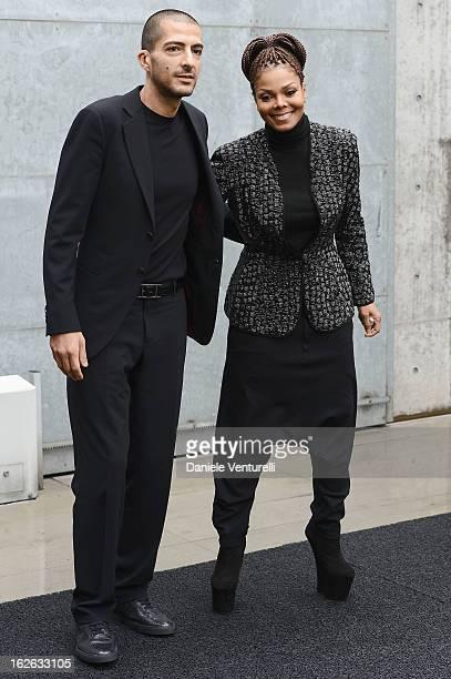 Janet Jackson and Wissam al Mana attend the Giorgio Armani fashion show during Milan Fashion Week Womenswear Fall/Winter 2013/14 on February 25 2013...