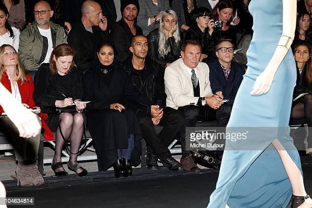 Janet Jackson and Wissam Al Mana attend the Lanvin Ready to Wear Spring/Summer 2011 show during Paris Fashion Week at Halle Freyssinet on October 1...