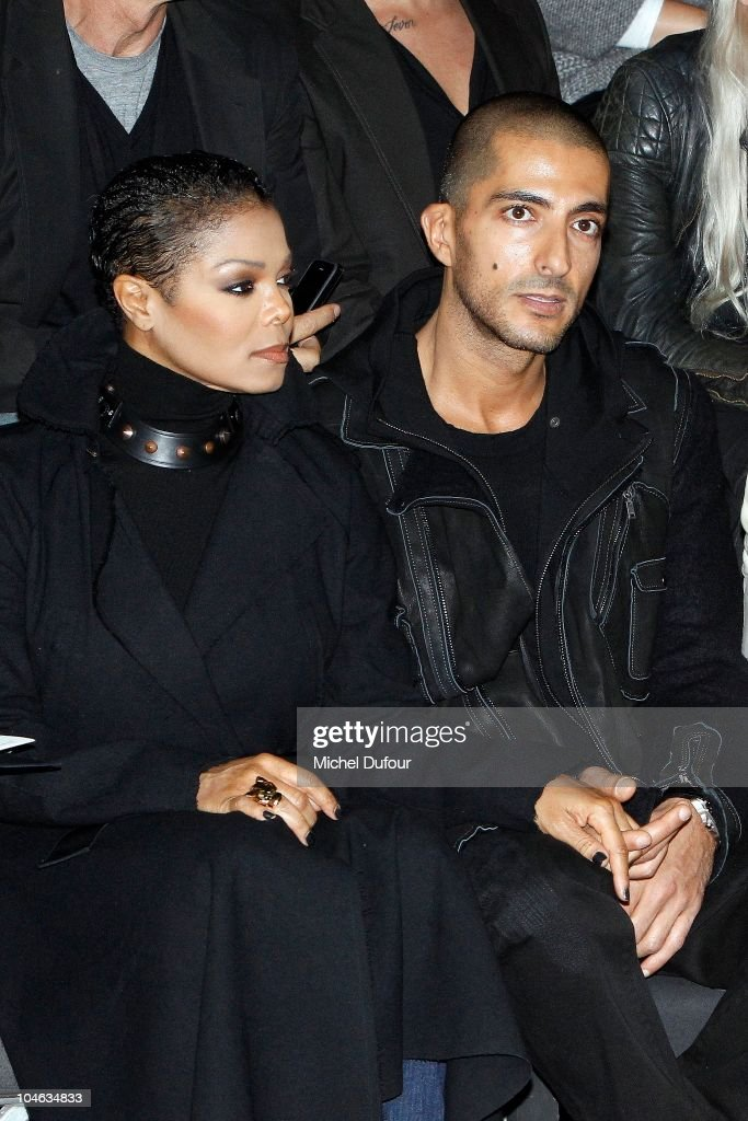 Janet Jackson and Wissam Al Mana attend the Lanvin Ready to Wear Spring/Summer 2011 show during Paris Fashion Week at Halle Freyssinet on October 1, 2010 in Paris, France.