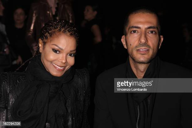 Janet Jackson and Wissam al Mana attend the Sergio Rossi presentation cocktail during Milan Fashion Week Womenswear Fall/Winter 2013/14 on February...