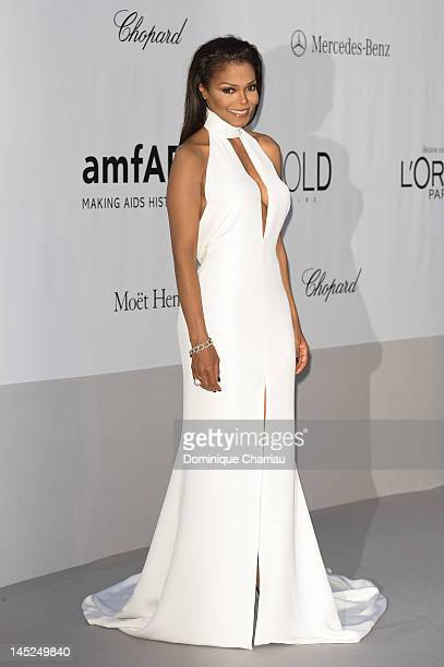 Janet Jackson arrives at the 2012 amfAR's Cinema Against AIDS during the 65th Annual Cannes Film Festival at Hotel Du Cap on May 24, 2012 in Cap...
