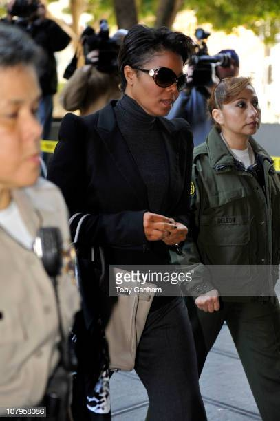 Janet Jackson arrives for day five of the preliminary hearing for Dr Conrad Murray on January 10 2011 in Los Angeles California
