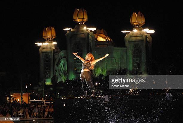 Janet Jackson At the grand opening of The Cove Atlantis on Paradise Island resort magnate Sol Kerzner welcomed John Travolta and Kelly Preston...