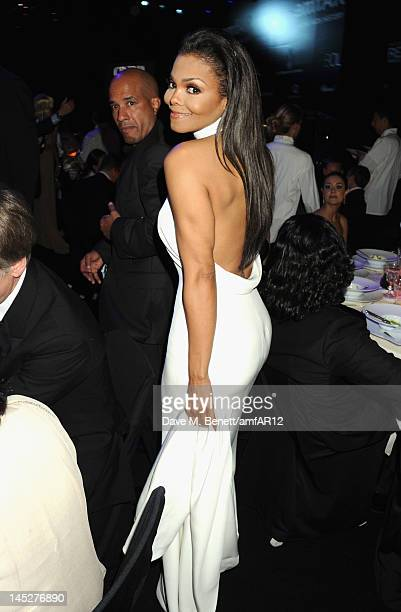 Janet Jackson attends the 2012 amfAR's Cinema Against AIDS after party during the 65th Annual Cannes Film Festival at Hotel Du Cap on May 24 2012 in...