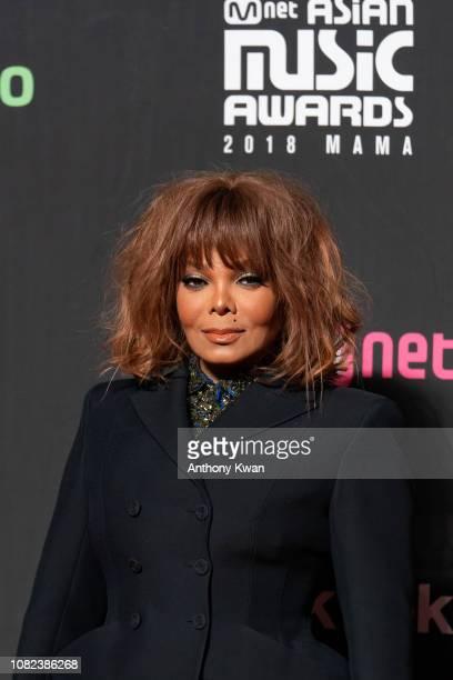 Janet Jackson attends the 2018 Mnet Music Awards in Hong Kong at AsiaWorld–Expo on December 14 2018 in Hong Kong Hong Kong