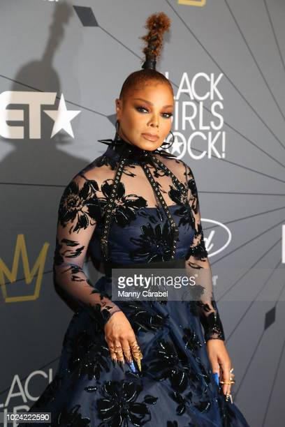 Janet Jackson attends the Black Girls Rock 2018 Red Carpet at New Jersey Performing Arts Center on August 26 2018 in Newark New Jersey