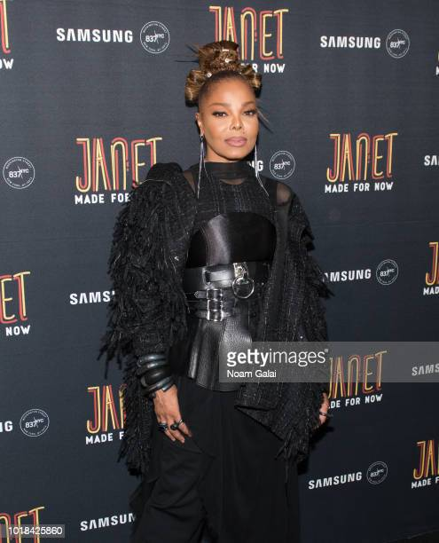 "Janet Jackson attends the ""Made For Now"" release party at Samsung 837 on August 17, 2018 in New York City."