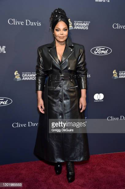 "Janet Jackson attends the Pre-GRAMMY Gala and GRAMMY Salute to Industry Icons Honoring Sean ""Diddy"" Combs on January 25, 2020 in Beverly Hills,..."