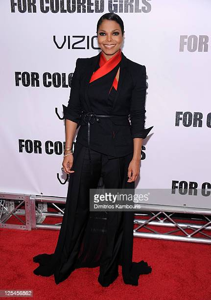 """Janet Jackson attends the premiere of """"For Colored Girls"""" at the Ziegfeld Theatre on October 25, 2010 in New York City."""