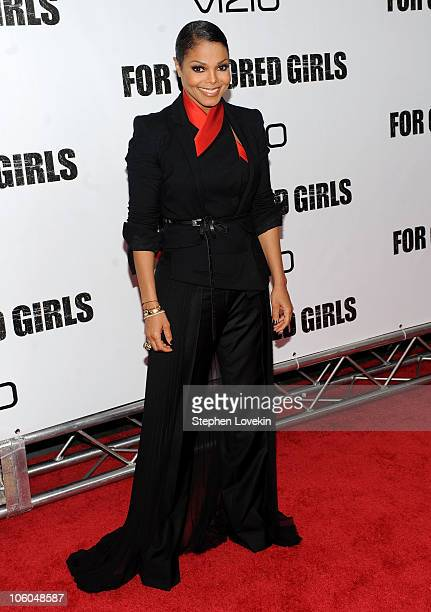 Janet Jackson attends the premiere of For Colored Girls at Ziegfeld Theatre on October 25 2010 in New York City