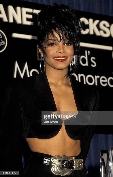 Janet Jackson during 1990 Billboard Music Awards at Santa Monica Hangar in Santa Monica California United States