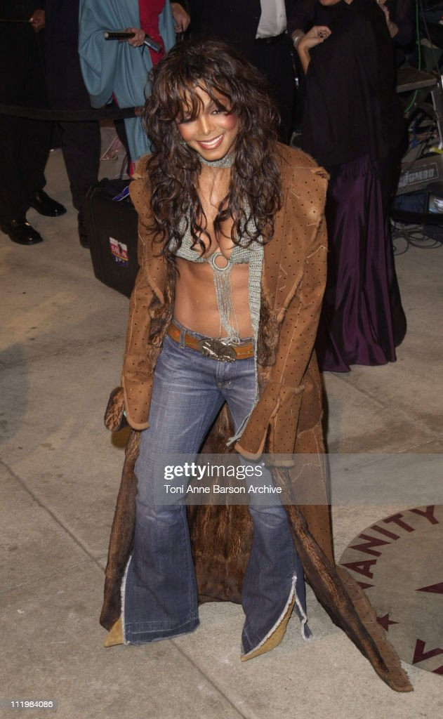 Janet Jackson during 2002 Vanity Fair Oscar Party Hosted by Graydon Carter - Arrivals at Morton's Restaurant in Beverly Hills, California, United States.