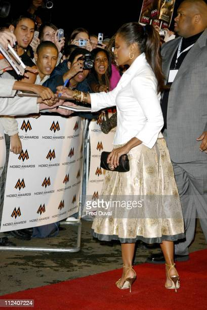 Janet Jackson during 2004 MOBO Awards Arrivals at Royal Albert Hall in London in London United Kingdom
