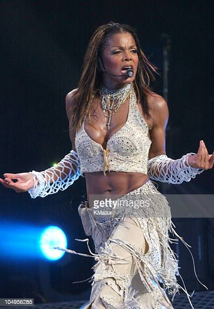 Janet Jackson during Janet Jackson 'All For You World Tour 2001' at Madison Square Garden in New York City New York United States