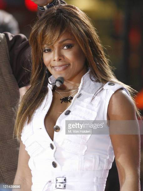 Janet Jackson during Janet Jackson Performs on the 'Today Show' Toyota Concert Series September 29 2006 at Rockafeller Plaza in New York City New...