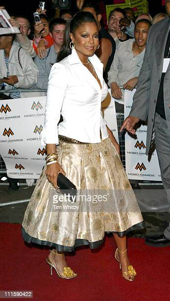 Janet Jackson during MOBO Music Awards 2004 Arrivals at Royal Albert Hall in London Great Britain
