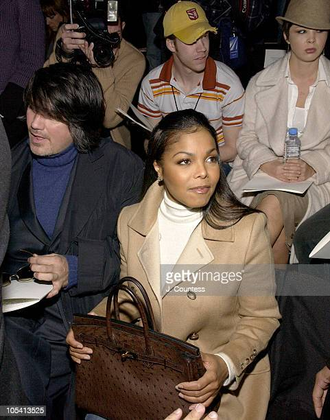 Janet Jackson during Olympus Fashion Week Fall 2005 Bill Blass Backstage and Front Row at The Tent in New York City New York United States