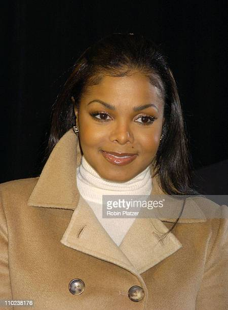 Janet Jackson during Olympus Fashion Week Fall 2005 Bill Blass Backstage and Front Row at The Tents at Bryant Park in New York New York United States