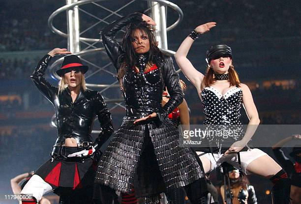 Janet Jackson during The AOL TopSpeed Super Bowl XXXVIII Halftime Show Produced by MTV at Reliant Stadium in Houston Texas United States