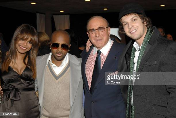 Janet Jackson Jermaine Dupri Clive Davis and Gavin DeGraw