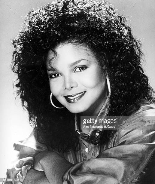 Janet Jackson, Michael Jacksons sister, a singer and song writer and social campaigner, 1972.
