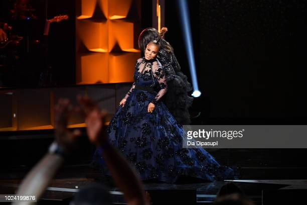 Janet Jackson onstage during the Black Girls Rock 2018 Show at NJPAC on August 26 2018 in Newark New Jersey