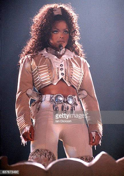 Janet Jackson performing on stage at Wembley Arena London 20 April 1995