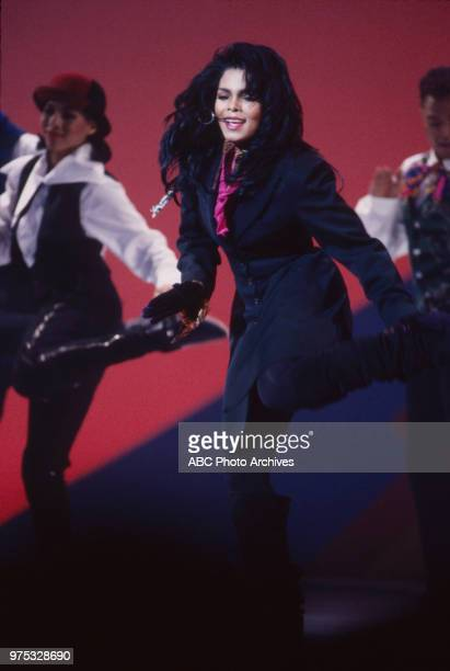 Janet Jackson performing on the 17th Annual American Music Awards Shrine Auditorium January 22 1990