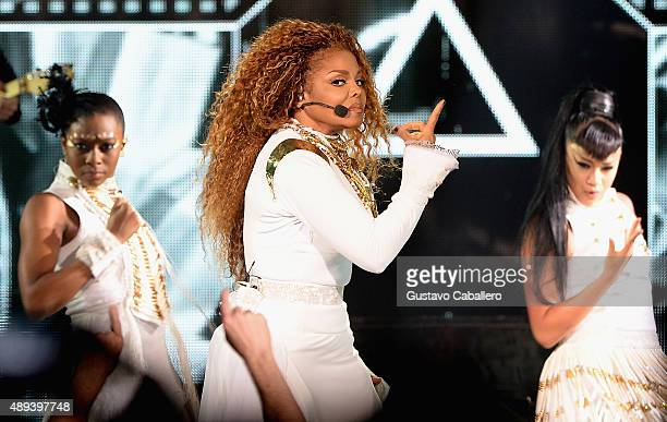Janet Jackson performs at American Airlines Arena on September 20 2015 in Miami Florida